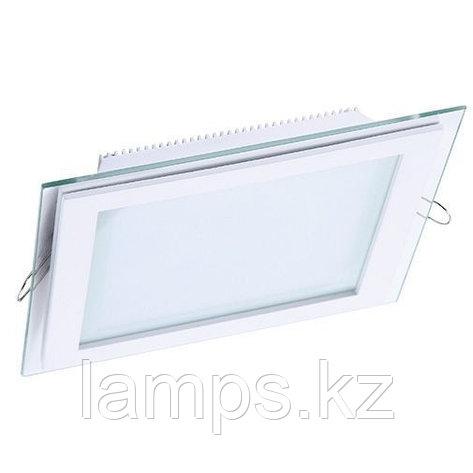 Панель светодиодная, квадратная, белая, встраиваемая, потолочная DL LED GLASS KVADRO PANEL18W4500K, фото 2