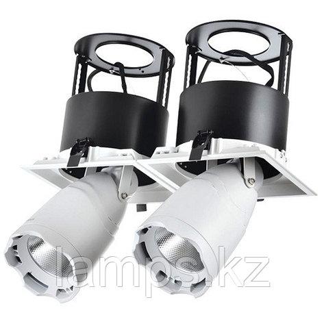 Светильник направленного света, светодиодный, потолочный LED LS-DK912-2 2x40W 5700K WH, фото 2