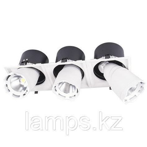 Светильник направленного света, светодиодный, потолочный DL LED LS-DK914-3 3x40W WH 5700K, фото 2