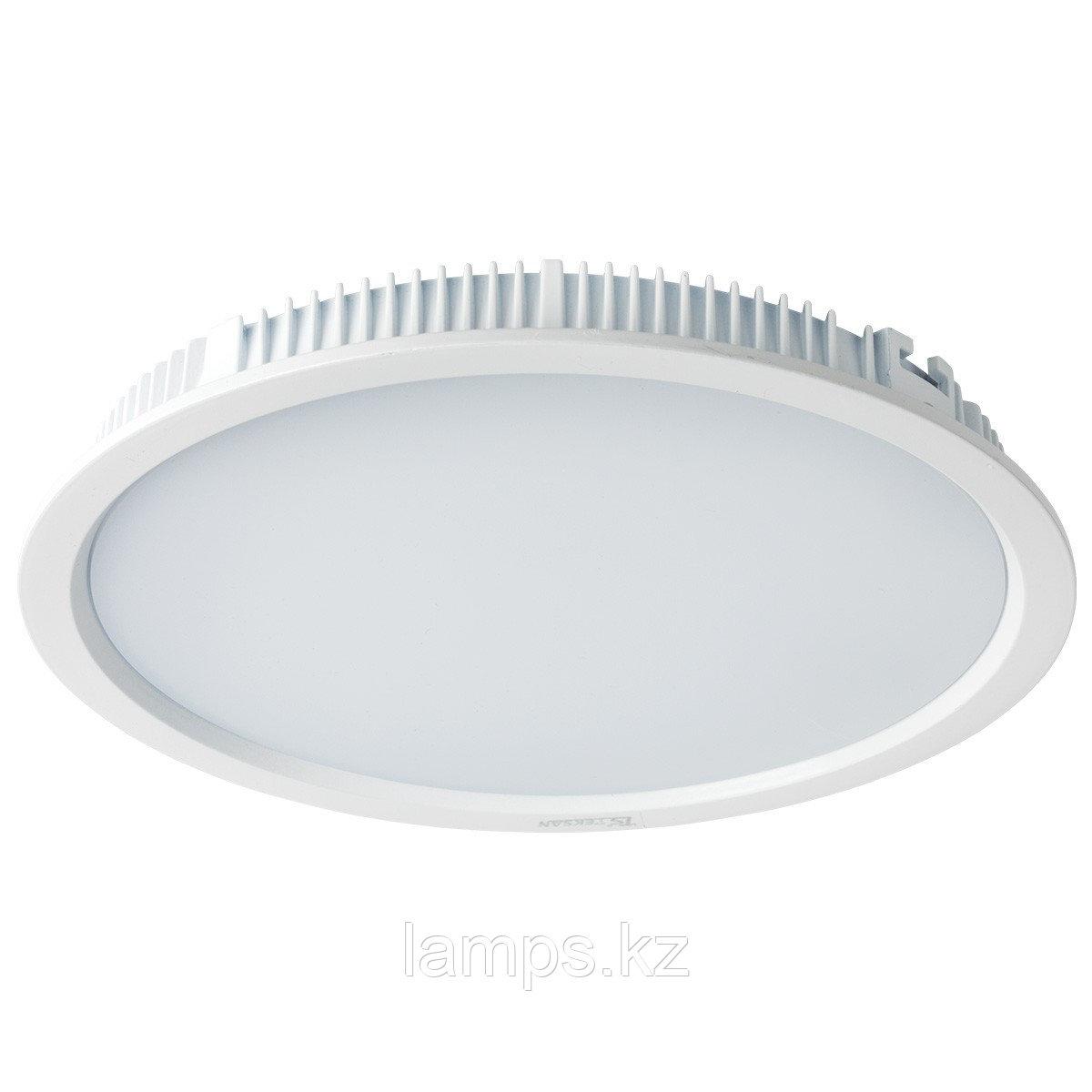 Светильник встраиваемый светодиодный круглый белый потолочный LED RD Panel 30W 3000K WH