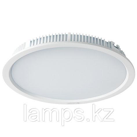 Светильник встраиваемый светодиодный круглый белый потолочный LED RD Panel 30W 3000K WH, фото 2