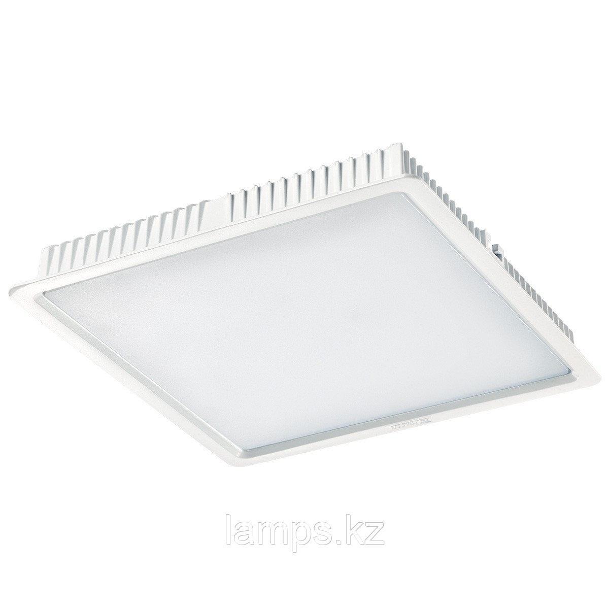 Светильник встраиваемый светодиодный квадратный белый потолочный LED SQ Panel 30W 3000K