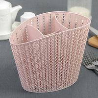 Сушилка для столовых приборов 'Вязание', цвет чайная роза