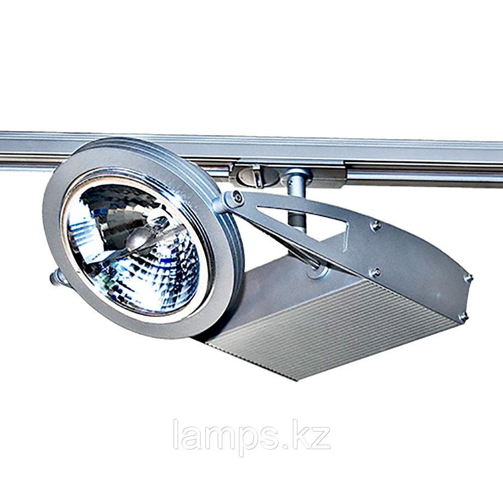 Светильник на шину, трековый, потолочный TR-105 SILVER 12V 50W AR111