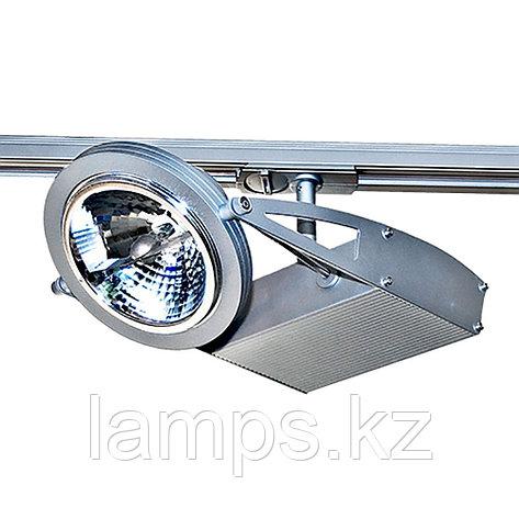 Светильник на шину, трековый, потолочный TR-105 SILVER 12V 50W AR111, фото 2