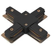 Коннектор X (соединитель) для 2х-линейных шинопроводов типа Standart. M.BLACK X-CONNECTOR (2 LINE)