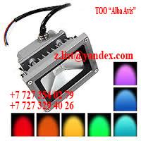 Прожектор светодиодный 10 W цветные софиты Цвет; синий,зеленый,красный,желтый