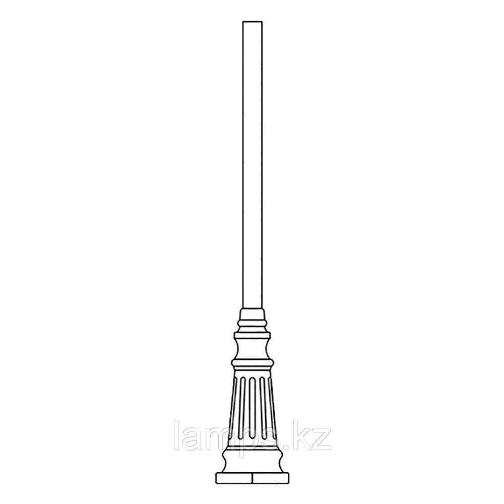 Опора для уличного светильника TRUBA 1,95 M MATT BLACK