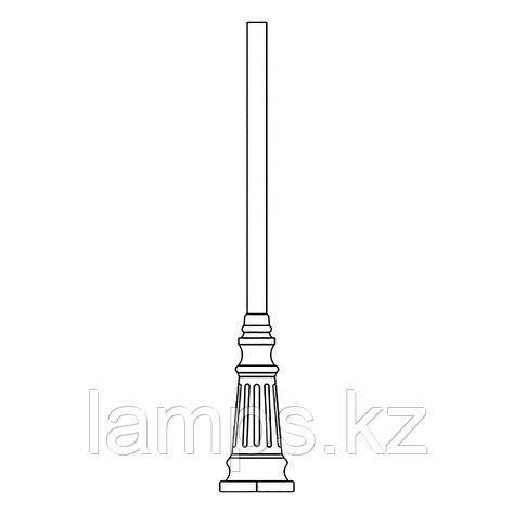 Опора для уличного светильника TRUBA 1,95 M MATT BLACK, фото 2