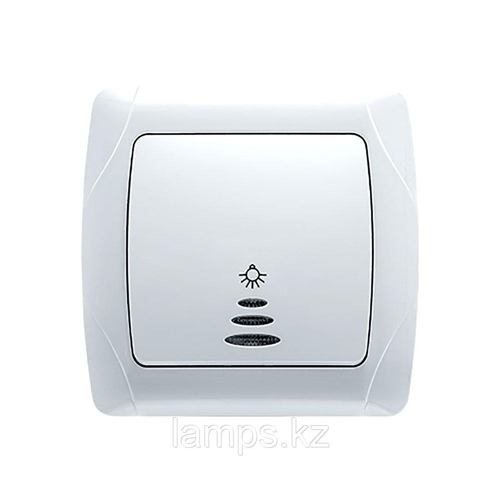 Viko CARMEN BEYAZ кнопочный выключатель с подсветкой