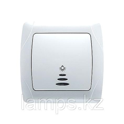 Viko CARMEN BEYAZ кнопочный выключатель с подсветкой, фото 2
