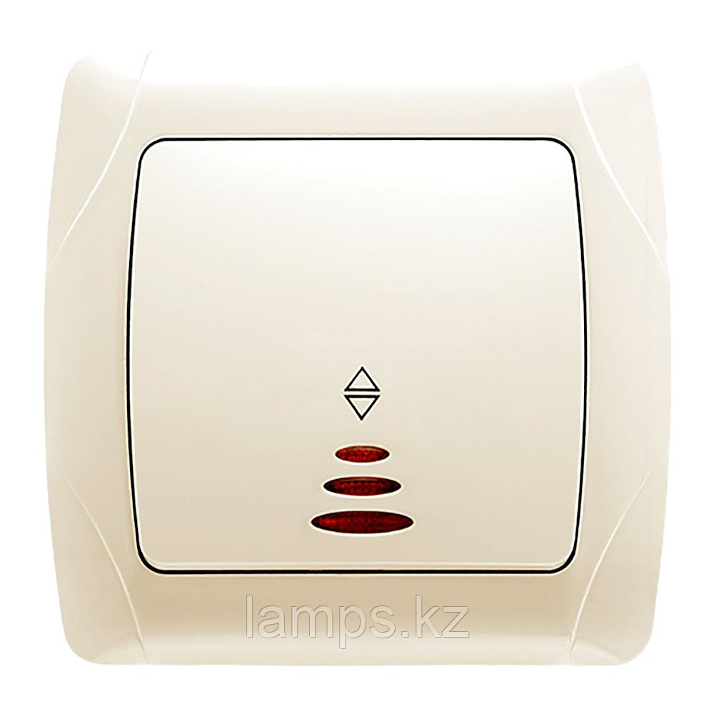 Viko CARMEN KREM проходной выключатель 1-кл с подсветкой