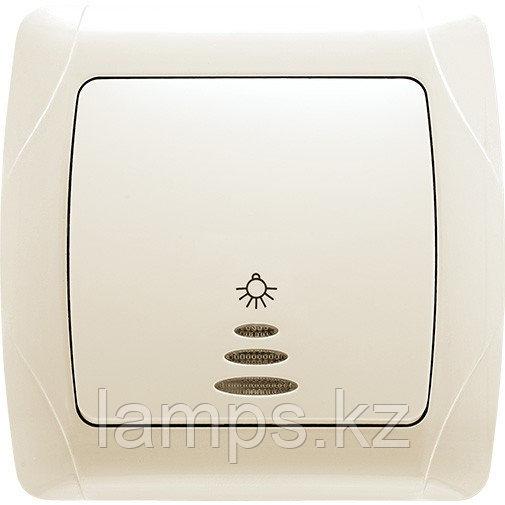Viko CARMEN KREM кнопочный выключатель с подсветкой