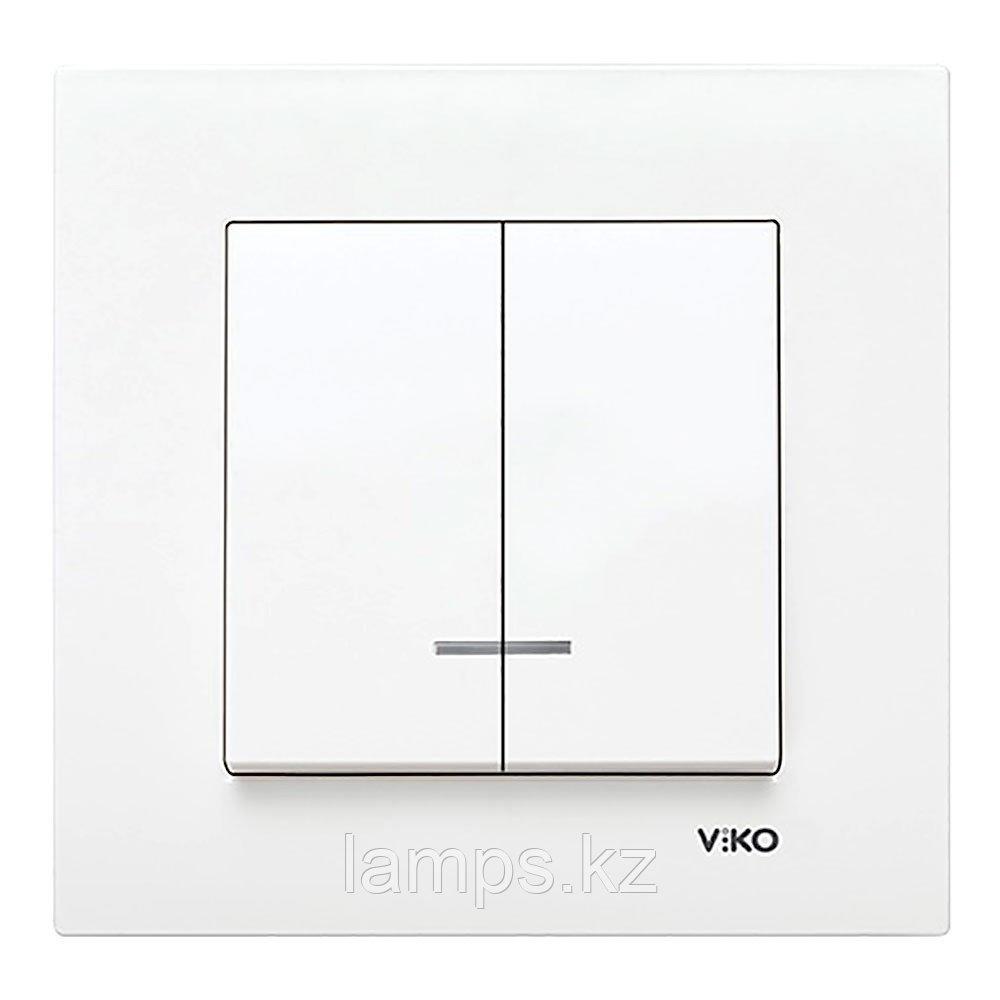 Viko KARRE BEYAZ выключатель 2-кл с подсветкой