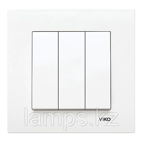 Viko KARRE BEYAZ выключатель 3-кл, фото 2
