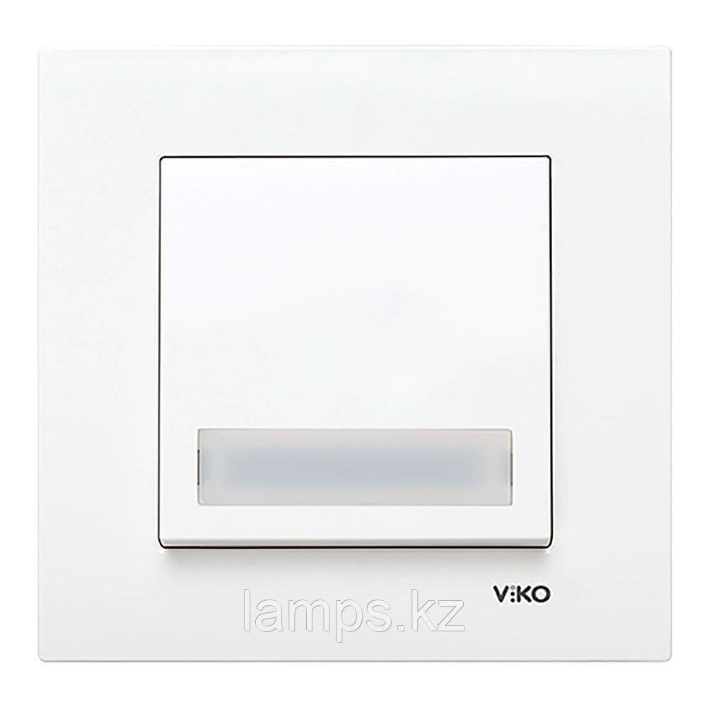 Viko KARRE BEYAZ кнопка звонка с биркой подсветкой