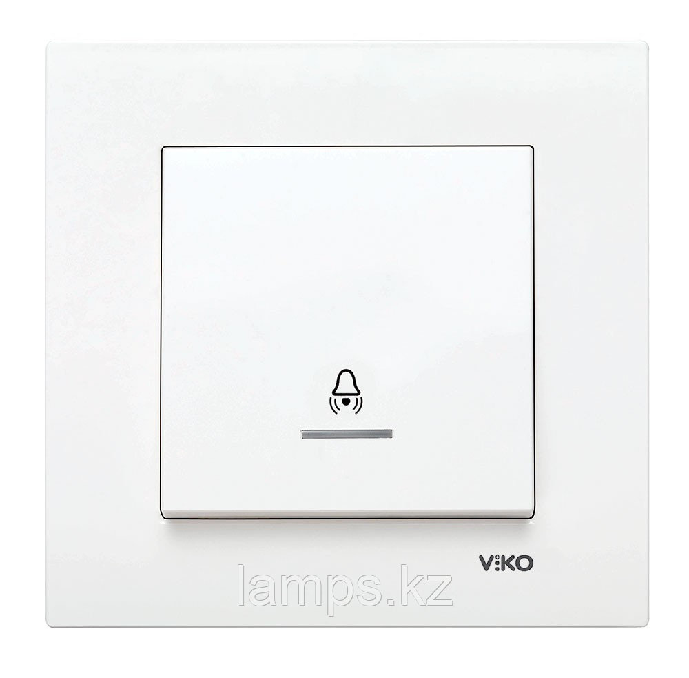 Viko KARRE BEYAZ кнопка звонка с биркой LED подсветкой