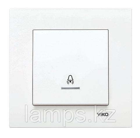 Viko KARRE BEYAZ кнопка звонка с биркой LED подсветкой, фото 2