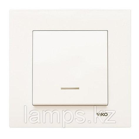 Viko KARRE KREM выключатель 1-кл с подсветкой, фото 2