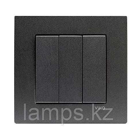 Viko NOVELLA FUME выключатель 3-кл (без рамки), фото 2
