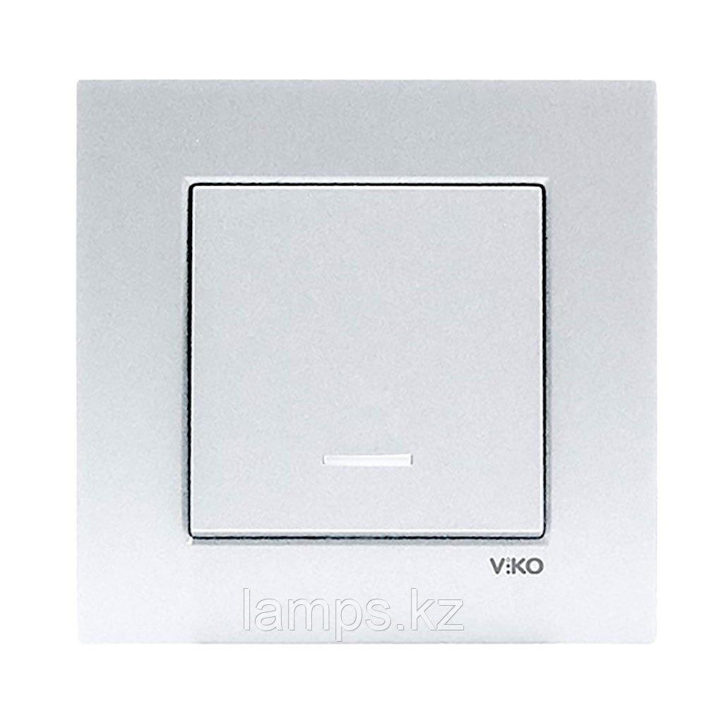 Viko NOVELLA GUMUS выключатель 1-кл с подсветкой