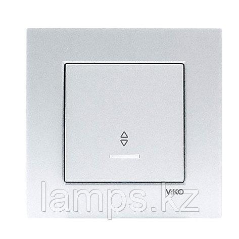 Viko NOVELLA GUMUS проходной выключатель 1-кл с подсветкой, фото 2