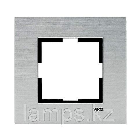 Viko NOVELLA ELOXAL GUMUS металлическая рамка одинарная, фото 2