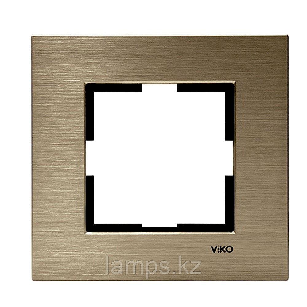 Viko NOVELLA ELOXAL BRONZ металлическая рамка одинарная