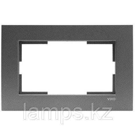 Viko NOVELLA FUME рамка для двойной розетки, фото 2