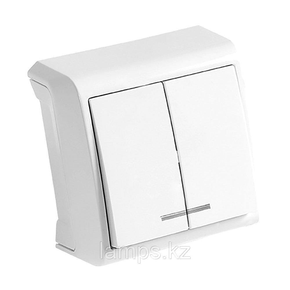 Выключатель 2-кл. белый с подсветкой ViKO Vera 90681050