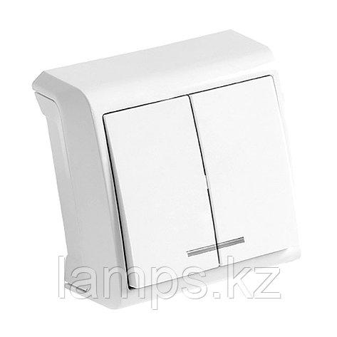 Выключатель 2-кл. белый с подсветкой ViKO Vera 90681050 , фото 2