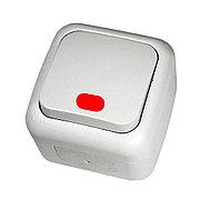 Выключатель 1-кл c подсветкой белый ViKO Palmiye 90555419, IP54 накладной