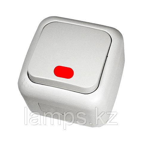 Выключатель 1-кл c подсветкой белый ViKO Palmiye 90555419, IP54 накладной, фото 2