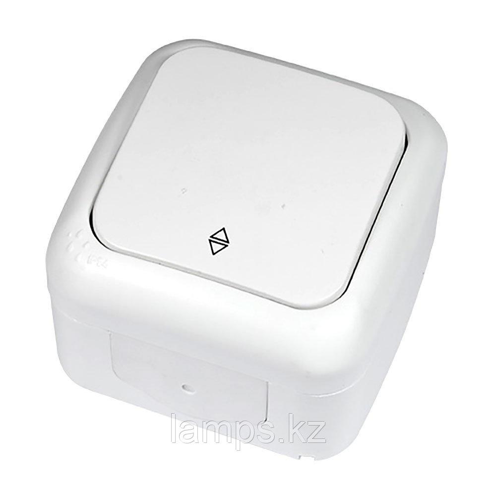 Выключатель 1-кл проходной белый ViKO Palmiye 90555404, IP54 накладной