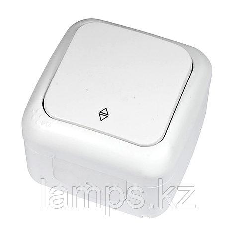 Выключатель 1-кл проходной белый ViKO Palmiye 90555404, IP54 накладной, фото 2
