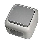 Выключатель 1-кл серый ViKO Palmiye 90555501, IP54 накладной