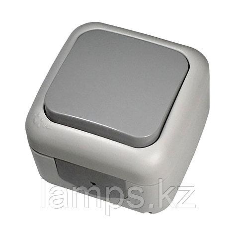 Выключатель 1-кл серый ViKO Palmiye 90555501, IP54 накладной, фото 2