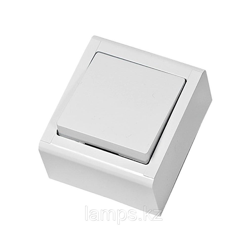 Выключатель 1-кл, накладной, белый, MEPA LUX
