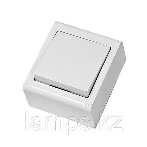 Выключатель 1-кл, накладной, белый, MEPA LUX , фото 2