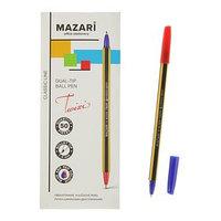 Ручка шариковая двухсторонняя TWIXI, узел 1.0 мм, чернила синие и красные (комплект из 50 шт.)