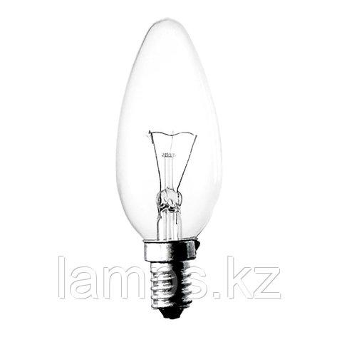 Лампа накаливания C35 25W E14 CLEAR, фото 2