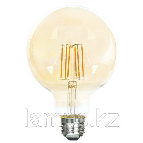 Светодиодная лампа LED FL G95 6W GOLD E27 2700K, фото 2
