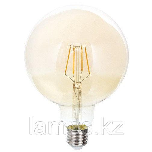 Светодиодная лампа LED FL G125 6W GOLD E27 2700K
