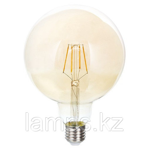 Светодиодная лампа LED FL G125 6W GOLD E27 2700K, фото 2