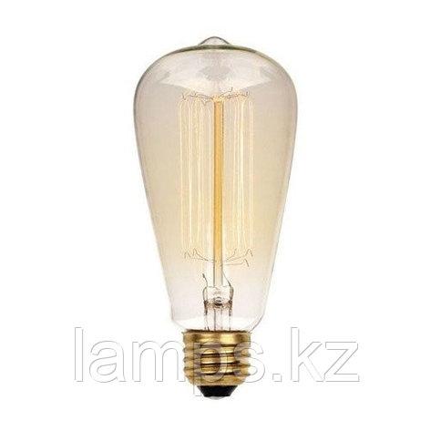 Лампа Эдисона ST64 40W E27, фото 2
