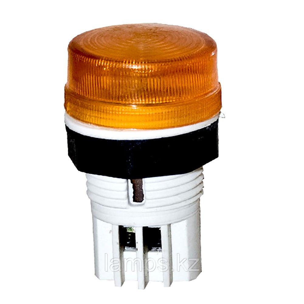 Сигнальная кнопка Mutlusan, 22мм, 220В, цвет желтый YELLOW