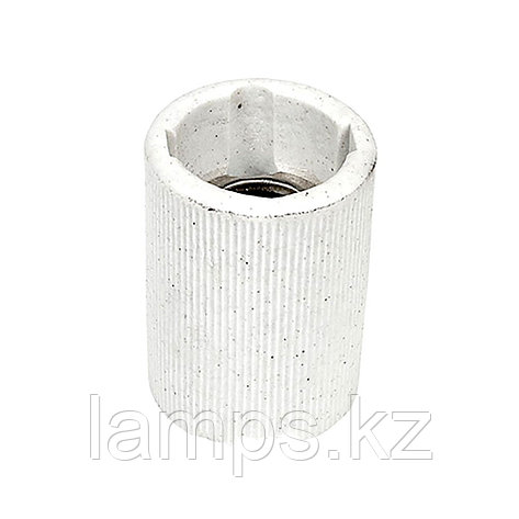 Патрон керамический цвет белый E14, фото 2