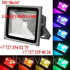 Прожектор светодиодный 30 W софит цветной Цвет; синий,зеленый,красный,желтый