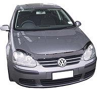 Мухобойка (дефлектор капота) на Volkswagen Golf/Фольксваген Гольф 5, фото 1