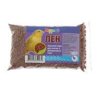 Корм 'Семя льна' для птиц, пакет 100 г